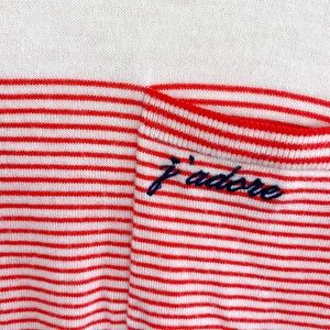 J'adore Extra Fine Merino Wool Stripped Sweater
